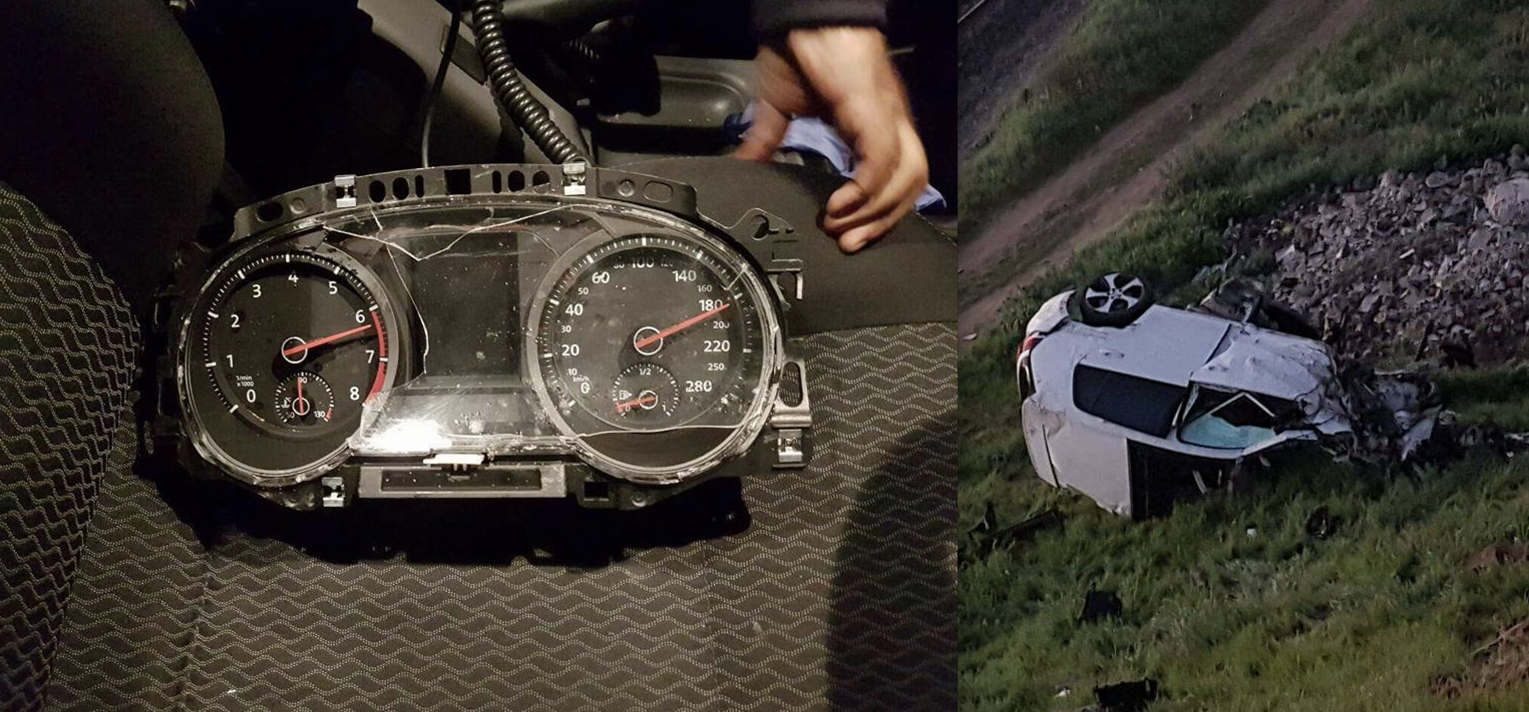 PICTURES: THE SPEEDOMETER OF VW GOLF AFTER FATAL CRASH